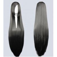 Парик черный длинный, парик 100 см, парик длинные волосы