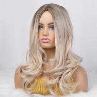 Парик омбре, парик блондинка, парик волнистые волосы