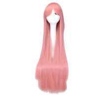 Парик розовый длинный, парик длинные волосы розовые, парик 100 см
