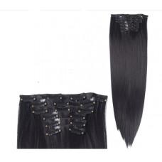 Купить Волосы на заколках прямые черные трессы