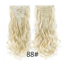 Купить Волосы на заколках волнистые блонд трессы