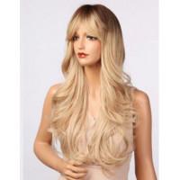 Парик омбре, парик блондинка пшеничный, парик длинные волнистые волосы