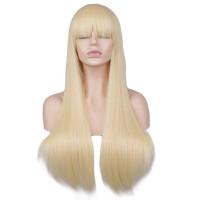 Парик блондинки с челкой, парик длинные волосы