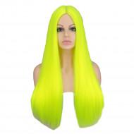 Парик яркий неоновый, парик длинные волосы прямые