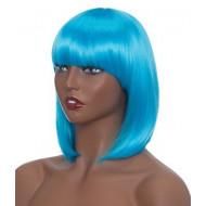 Парик голубой каре, Парик каре, парик женский