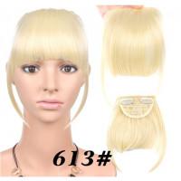 Накладная челка блонд, искусственная челка