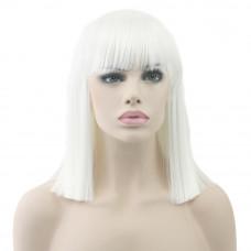 Купить Парик каре белый прямые волосы