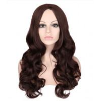 Парик коричневый шоколадный, парик длинный волнистый