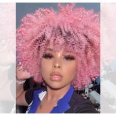 Купить Парик кудрявый, афро парик розовый кучерявый