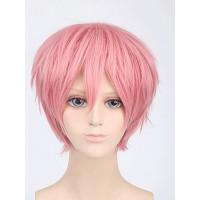 Парик розовый короткий, розовый парик