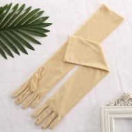 Перчатки бежевые матовые выше локтя