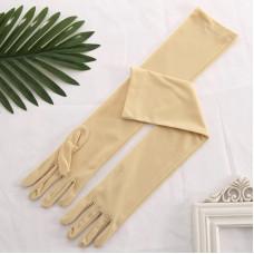 Купить Перчатки бежевые матовые выше локтя