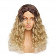 Парик кудрявый блонд, парик волнистый омбре блонд