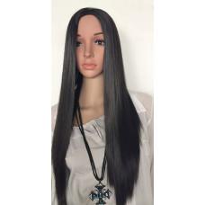 Купить Полупарик черный, полупарик длинные волосы прямые