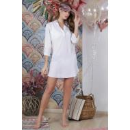 Туника пляжная хлопок, летняя рубашка платье