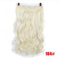 Волосы на заколках блонд трессы накладные волосы