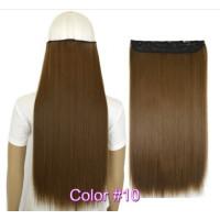 Волосы на заколках коричневые трессы