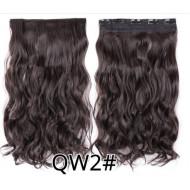 Волосы на заколках темно-коричневые трессы накладные волосы