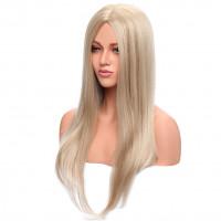 Парик блондинки прямой, парик без челки, парик длинные волосы