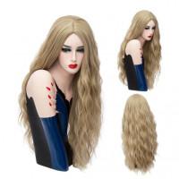 Парик блондинки длинный волнистый парик пшеничный блонд, парик русый