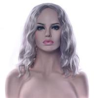 Парик серый, парик волнистые волосы