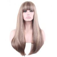 Парик длинные волосы с челкой, парик женский