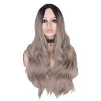Парик омбре, парик серый, парик длинные волнистые волосы