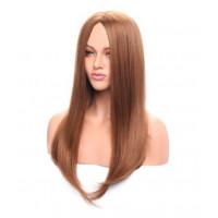 Парик рыжий прямой, парик без челки, парик длинные волосы