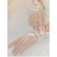 Перчатки белые, ажурные перчатки, перчатки кружевные