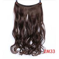 Трессы темно-коричневые волнистые волосы канекалон