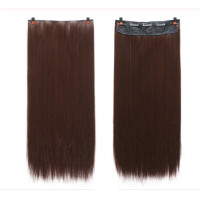 Волосы на заколках темно-коричневые трессы