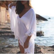 Туника пляжная белая