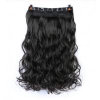 Волосы на заколках черные трессы накладные волосы