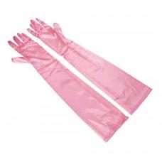Купить Перчатки атласные розовые выше локтя