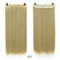 Волосы на заколках темный блонд искусственные волосы накладные