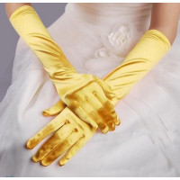 Перчатки атласные желтые