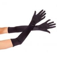 Перчатки выше локтя атласные длинные