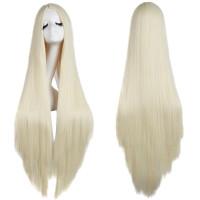 Парик блондинка длинные 100 см без челки, парик 100 см блонд