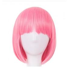 Купить Парик каре розовый с челкой