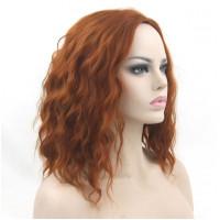 Парик рыжий, Парик каре, парик волнистые волосы, парик без челки