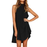Платье летнее пляжное, туника пляжная, пляжная туника черная
