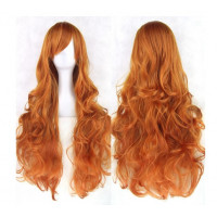 Парик рыжий, парик волнистые длинные волосы