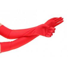 Купить Перчатки атласные красные выше локтя