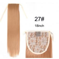 Купить Шиньон прямой хвост на ленте медового цвета
