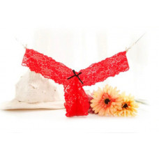 Купить Кружевные красные стринги v-образной формы