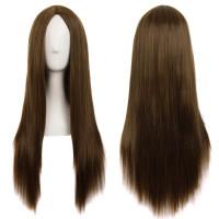 Парик русый светло-коричневый, парик без челки, парик длинные волосы прямые