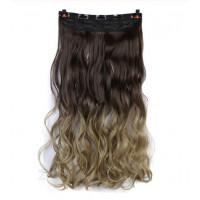 Волосы на заколках омбре волнистые трессы