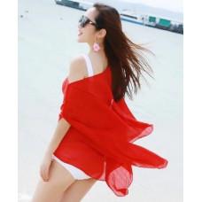 Купить Туника пляжная красная