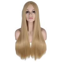 Парик пшеничный блондинка длинные прямые волосы пшеничные