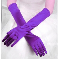 Перчатки атласные фиолетовые